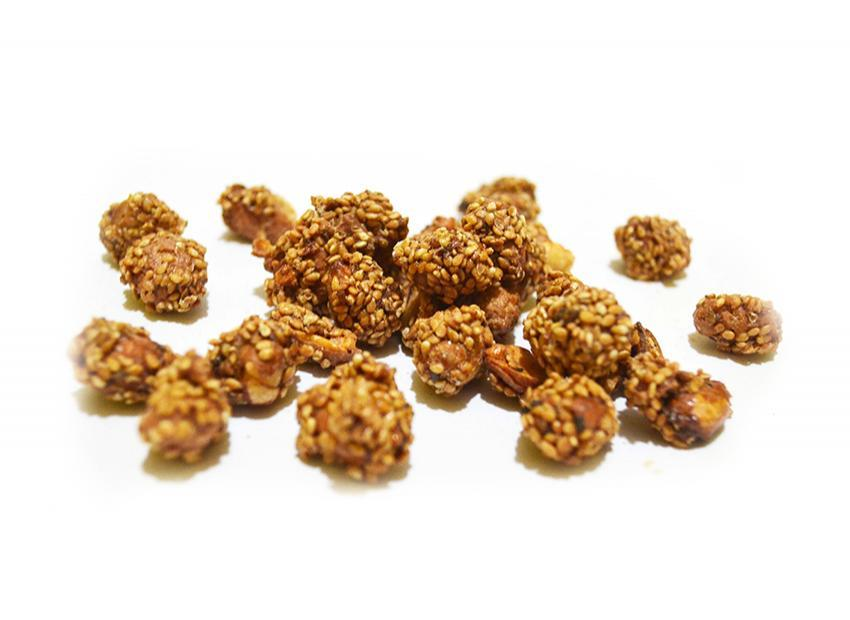 Sesame Coated Chickpeas